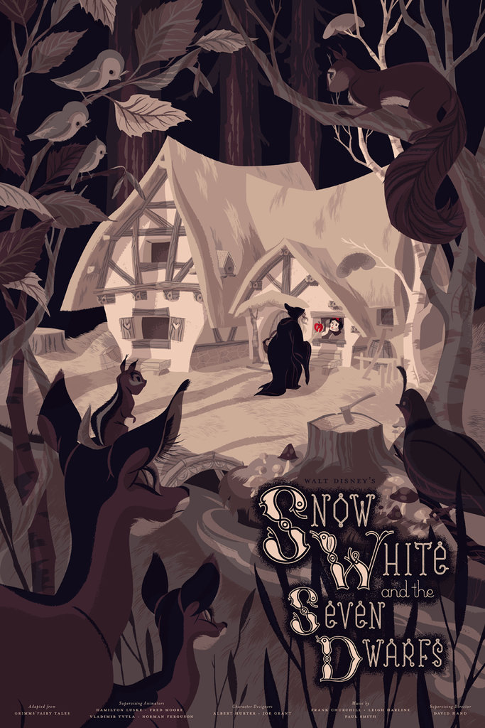 「白雪姫」Snow White and the Seven Dwarfs, Poster by Anne Benjamin