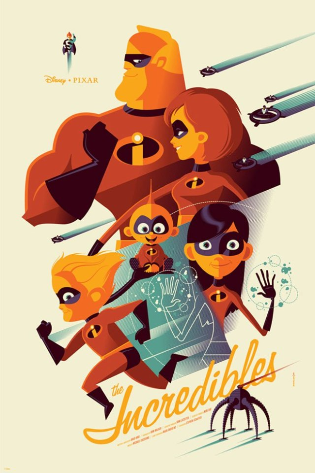 「Mr.インクレディブル」The Incredibles Poster by Tom Whalen