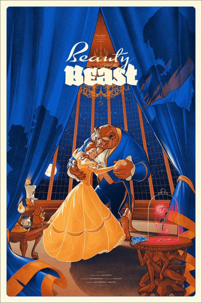 「美女と野獣 レギュラー」Beauty and the Beast Regular Poster by Martin Ansin