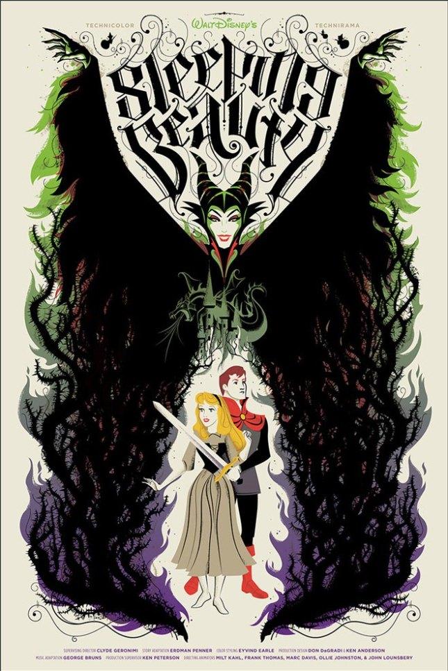 「眠れる森の美女」Sleeping Beauty Poster by Billy Baumann