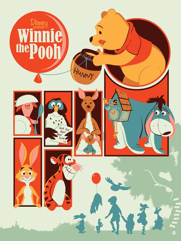 「くまのプーさん」Winnie the Pooh  Poster by Dave Perillo