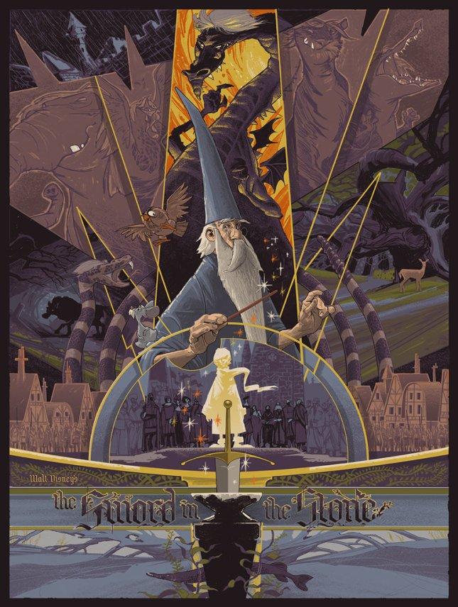 「王様と剣」The Sword in the Stone Poster by Rich Kelly