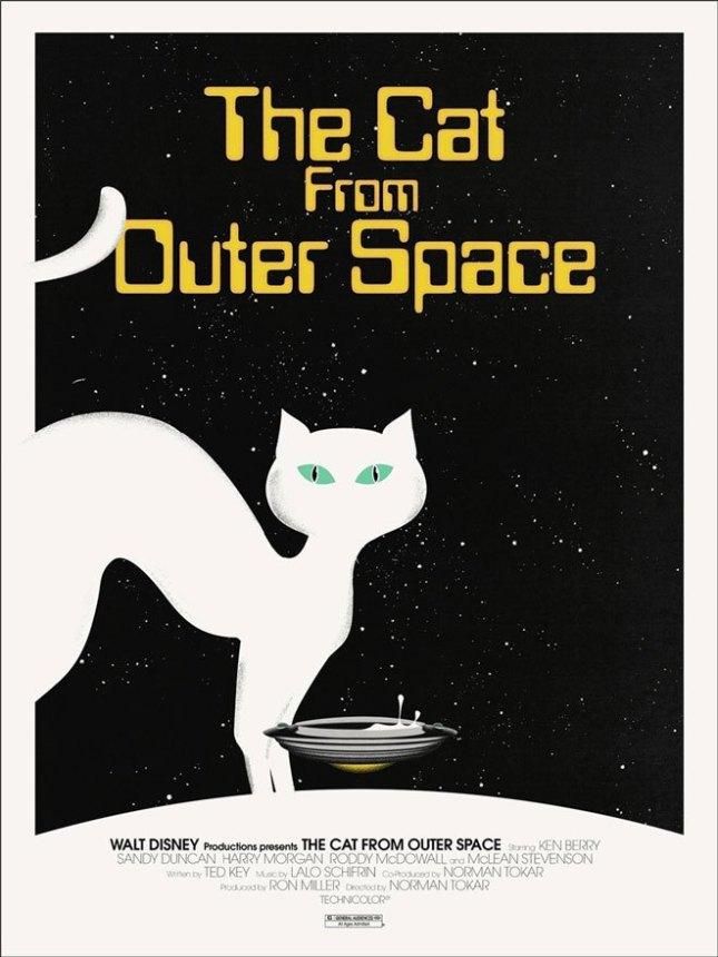 「スペースキャット」The Cat From Outer Space Poster by Jay Shaw