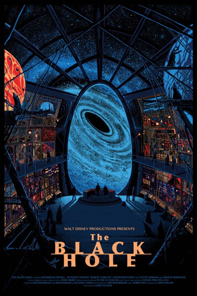 「ブラックホール」The Black Hole Poster by Kilian Eng