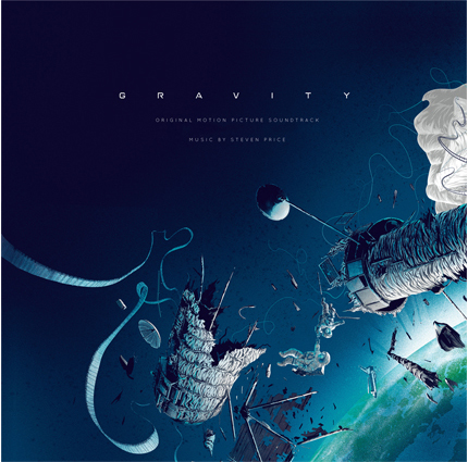 「ゼロ・グラビティー」オリジナルサウンドトラック盤 GRAVITY Original Motion Picture Soundtrack Original music by Steven Price Packaging design by Kevin Tong 2XLP in deluxe gatefold jacket pressed on 180 gram vinyl.  Limited edition pressed on black vinyl and randomly-inserted variant colorway vinyl.  US