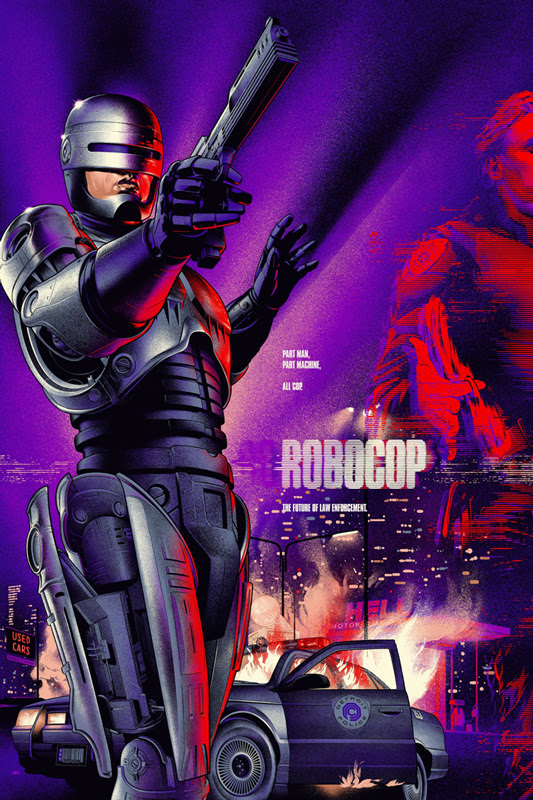 "「ロボコップ」レギュラー ROBOCOP Regular Poster by Martin Ansin.  24""x36"" screen print. Hand numbered.  Edition of 475.  Printed by D&L Screenprinting.  US$50"