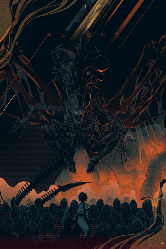 "「エイリアン2」レギュラー ALIENS Variant Poster by Kevin Tong.  24""x36"" screen print. Hand numbered.  Edition of 175.  Printed by D&L Screenprinting.  US$70"