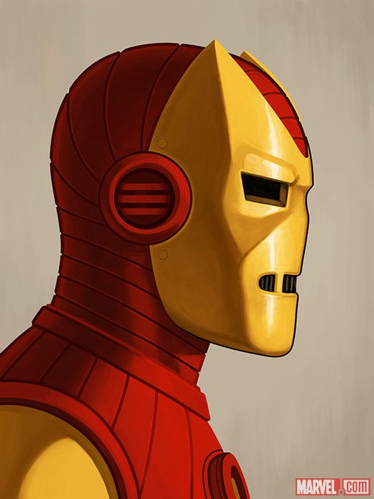 Iron Man Silver Age Print by Mike Mitchell IRON MAN  SILVER AGE BY MIKE MITCHELL