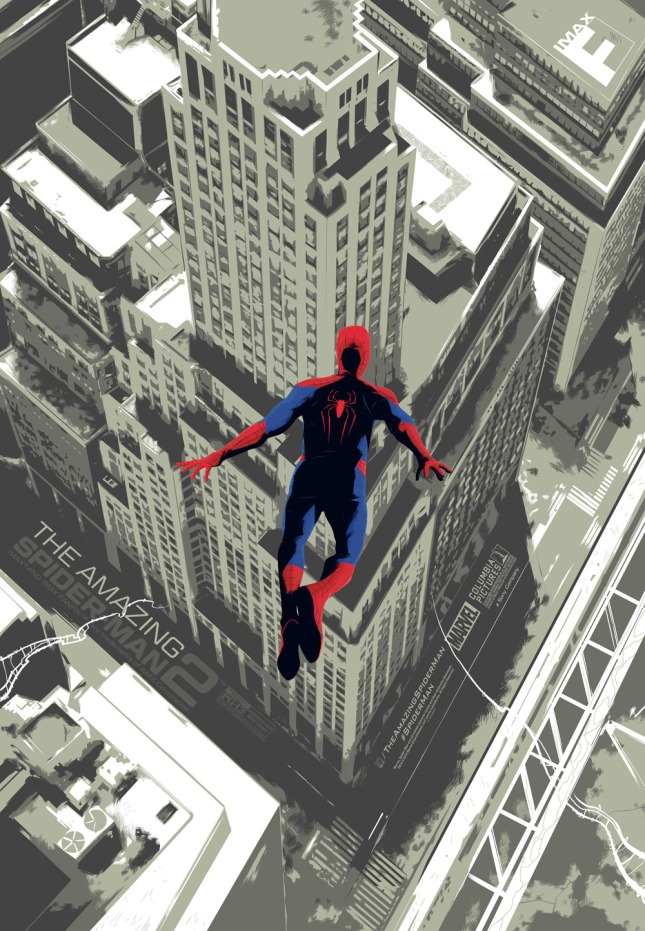"「AMAZING SPIDER-MAN2」 27""x40""  Poster by Rich Kelly"