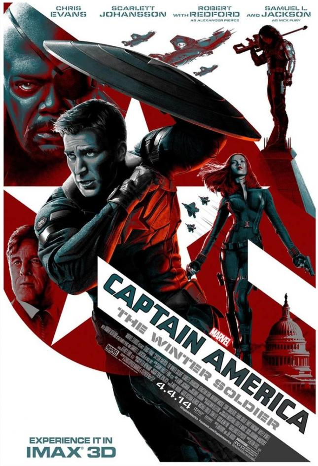 """「キャプテン・アメリカ ウィンター・ソルジャー」 Captain America The Winter Soldier IMAX  19"""" × 13"""""""