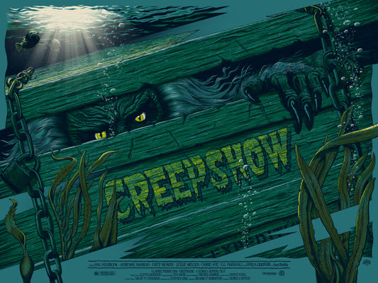 "「クリープショー」レギュラー Creepshow Regular Poster by Mike Saputo.  24""x18"" screen print.  Hand numbered. Edition of 300.  Printed by D&L Screenprinting.  US$40"