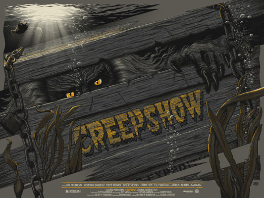 "「クリープショー」バリアント Creepshow Variant Poster by Mike Saputo.  24""x18"" screen print.  Hand numbered. Edition of 150.  Printed by D&L Screenprinting.  US$60"