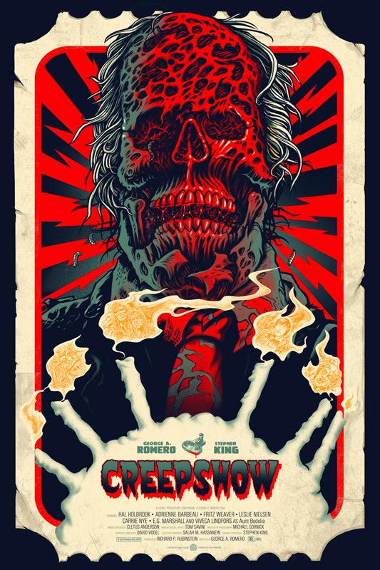 """「クリープショー」レギュラー Creepshow Reguler Poster by Gary Pullin.  24""""x36"""" screen print.  Hand numbered. Edition of 275.  Printed by D&L Screenprinting.  US$45"""