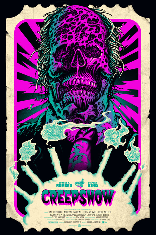 "「クリープショー」バリアント Creepshow Variant Poster by Gary Pullin.  24""x36"" screen print.  Hand numbered. Edition of 275.  Printed by D&L Screenprinting.  US$45"