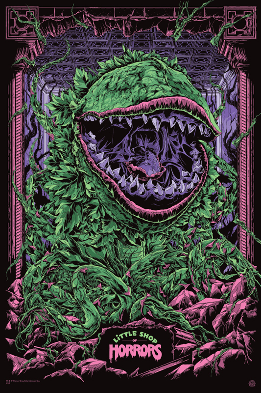 "「リトル・ショップ・オブ・ホラーズ」レギュラー Little Shop of Horrors Regular Poster by Ken Taylor.  24""x36"" screen print.  Hand numbered. Signed by Ken Taylor.  Edition of 350. Printed by D&L Screenprinting.  US$50"