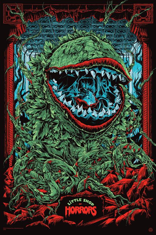 """「リトル・ショップ・オブ・ホラーズ」バリアント Little Shop of Horrors Variant Poster by Ken Taylor.  24""""x36"""" screen print. Hand numbered. Signed by Ken Taylor.  Edition of 175. Printed by D&L Screenprinting.  US"""