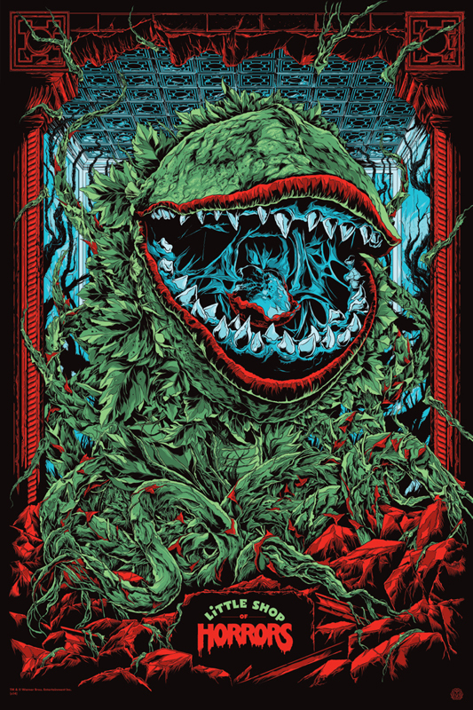 "「リトル・ショップ・オブ・ホラーズ」バリアント Little Shop of Horrors Variant Poster by Ken Taylor.  24""x36"" screen print. Hand numbered. Signed by Ken Taylor.  Edition of 175. Printed by D&L Screenprinting.  US$75"