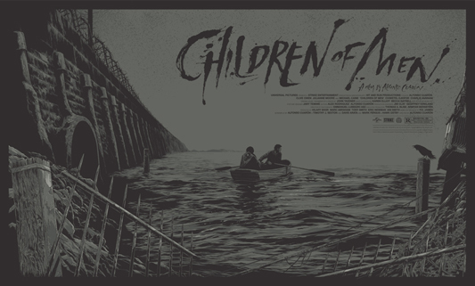"「トゥモロー・ワールド」レギュラー Children of Men Regular Poster by Ken Taylor.  21.5""x36"" screen print. Hand numbered. Signed by Ken Taylor.  Edition of 375. Printed by D&L Screenprinting.  US$50"