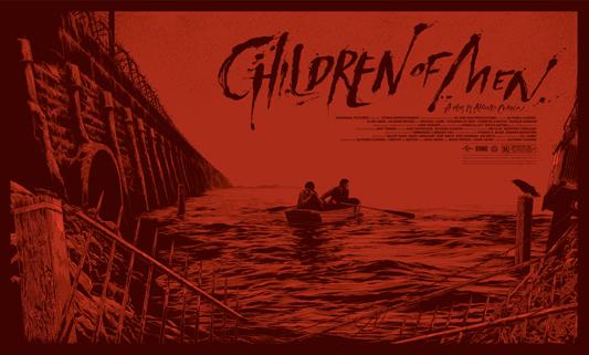 """「トゥモロー・ワールド」バリアント Children of Men Variant Poster by Ken Taylor.  21.5""""x36"""" screen print. Hand numbered. Signed by Ken Taylor.  Edition of 200. Printed by D&L Screenprinting.  US$75"""