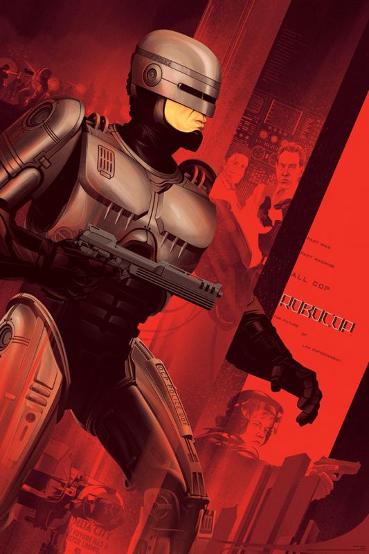"""「ロボコップ」レギュラー Robocop Regular Poster by Kevin Tong.  24""""x36"""" screen print. Hand numbered. Edition of 300.  Printed by D&L Screenprinting.  US$45"""