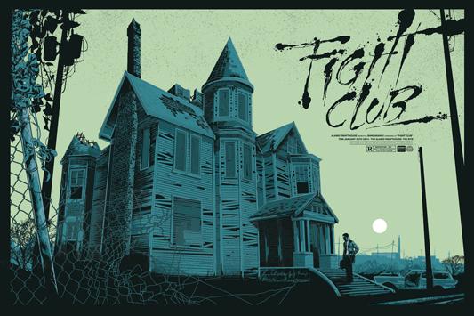 """「ファイト・クラブ」レギュラー Fight Club Regular  Poster by Ken Taylor.  36""""x24"""" screen print. Hand numbered.  Signed by Ken Taylor.  Edition of 375.  Printed by D&L Screenprinting.  US$50"""