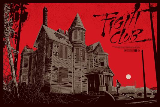 """「ファイト・クラブ」バリアント Fight Club Variant Poster by Ken Taylor.  36""""x24"""" screen print. Hand numbered.  Signed by Ken Taylor.  Edition of 375.  Printed by D&L Screenprinting.  US$75"""