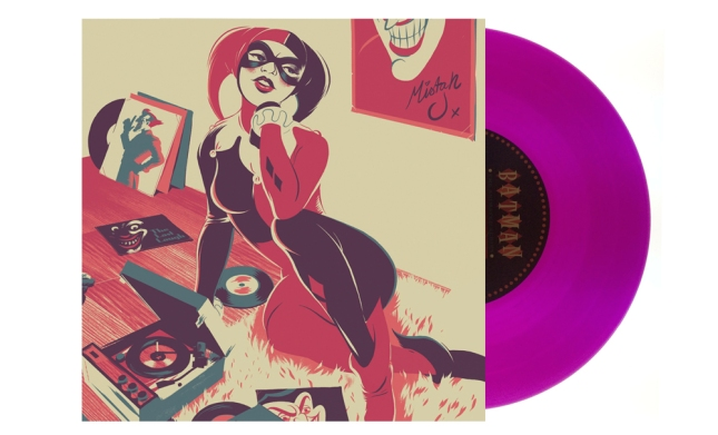 Harley Quinn Artwork by Matt Taylor  Pressed on translucent purple vinyl