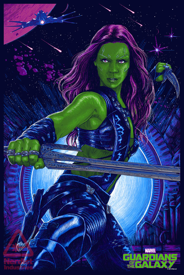 「ガモーラ」レギュラー Gamora (Regular) Poster by Vance Kelly 24″ x 36″ Edition of 225 $45