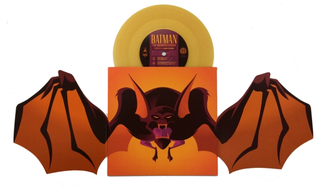 Man-Bat Artwork by Tom Whalen Pressed on translucent orange vinyl