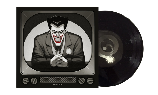 The Joker Artwork by Mike Mitchell Pressed on Bomb Black Vinyl