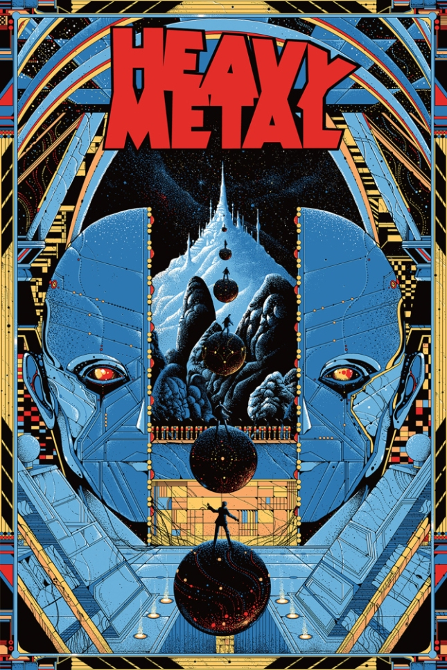 「ヘビー・メタル」レギュラー Heavy Metal (Regular) Poster by Kilian Eng 24″ x 36″ Edition of 175