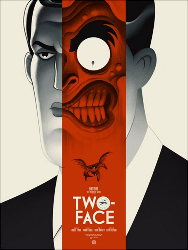 "「トゥー・フェイス」レギュラー Two-Face Regular Poster by Phantom City Creative.18""x24""  Edition of 275 US$45"