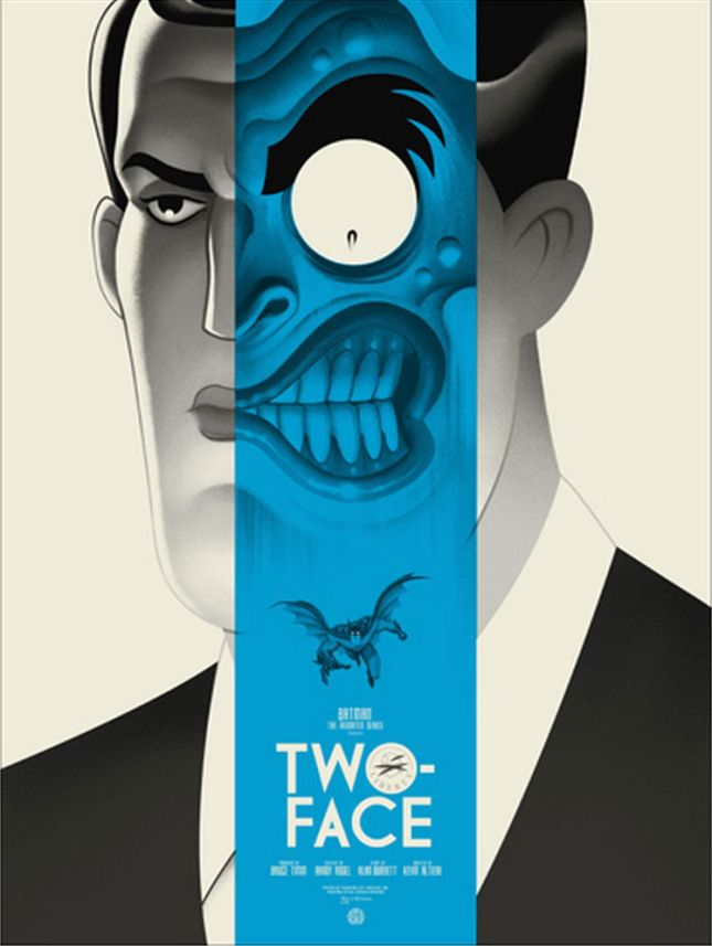 "「トゥー・フェイス」バリアント Two-Face Variant Poster by Phantom City Creative.18""x24""  Edition of 150 US$65"