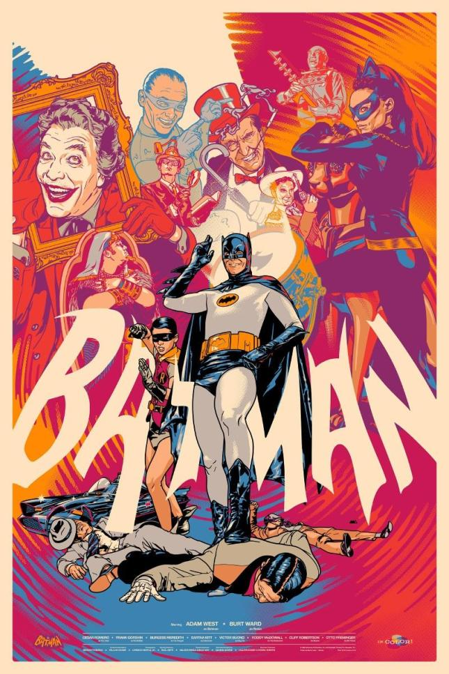 "「バットマン(1966)」バリアント Batman (1966) Variant Poster by Martin Ansin. 24""x36""  Edition of 175 US$75"