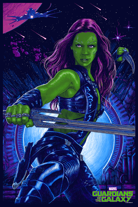 「ガモーラ」 Gamora Poster by Vance Kelly 24″ x 36″ Edition of 225 $45