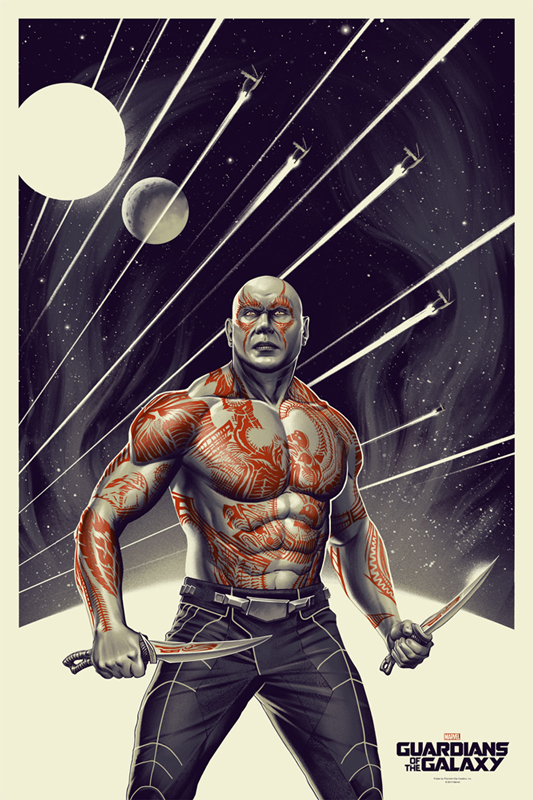 「ドラックス」 Drax the Destroyer  Poster by Phantom City Creative 24″ x 36″ Edition of 250