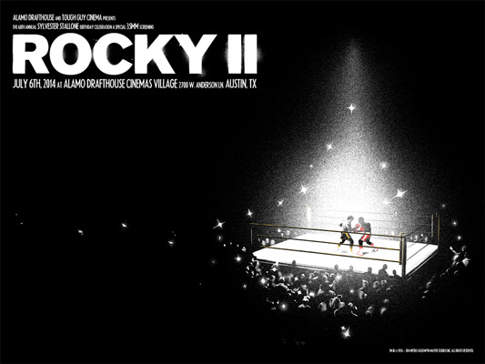 "「ロッキーII」 ROCKY II Poster by Matt Taylor.  18""x24"" screen print.  Hand numbered. Edition of 150.  Printed by Industry Print Shop.  US$40"