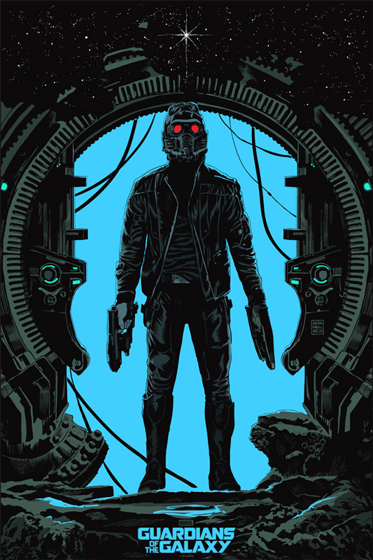 「スター・ロード」レギュラー Star-Lord  (Regular) Poster by Francesco Francavilla 24″ x 36″ Edition of 300 $55