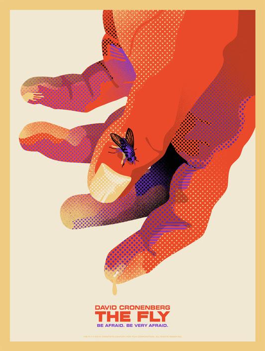 """「ザ・フライ」 The Fly ver.B Poster by We Buy Your Kids.  18""""x24"""" screen print. Hand numbered. Edition of 100. Printed by D&L Screenprinting.  US$40"""