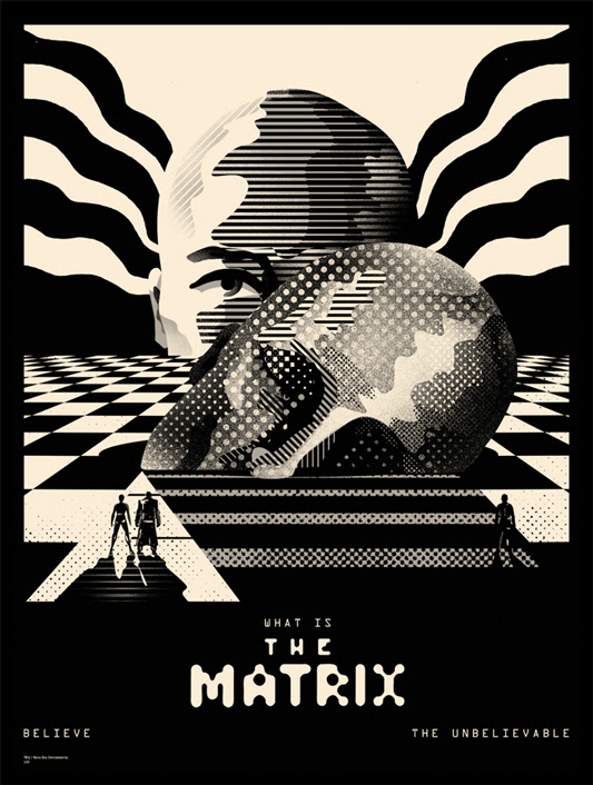 "「マトリックス」 The Matrix Poster by We Buy Your Kids.  18""x24"" screen print. Hand numbered. Edition of 110. Printed by D&L Screenprinting.  US$40"