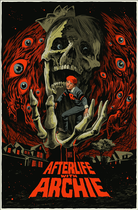 "AFTERLIFE WITH ARCHIE Poster by Francesco Francavilla. 24""x36"" screen print. Hand numbered. Edition of 275.  Printed by D&L Screenprinting.  US$50"