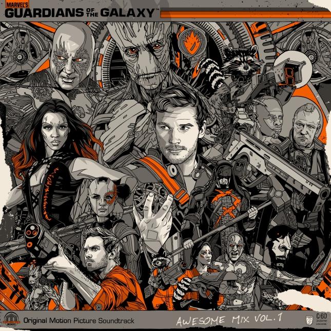 「ガーディアンズ・オブ・ギャラクシー」 Guardians of the Galaxy LP Art work By Tyler Stout US$50