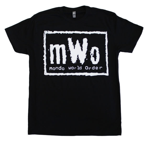 「mWo(mondo world order)Tシャツ」 mWo T-Shirt Available in White/Black & Red/Black. US$25