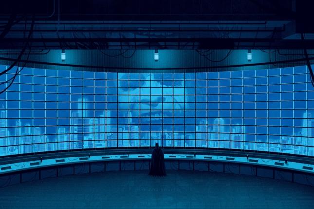 """「ダークナイト」レギュラー The Dark Knight Regular by Kevin Tong.  24""""x36"""" screen print. Hand Numbered. Edition of 275.  Printed by D&L Screenprinting.  US"""