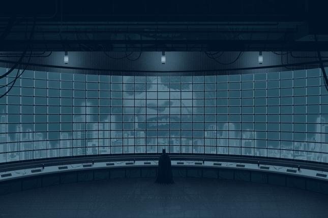 """「ダークナイト」バリアント The Dark Knight Variant by Kevin Tong.  24""""x36"""" screen print. Hand Numbered.  Edition of 150.  Printed by D&L Screenprinting.  US"""