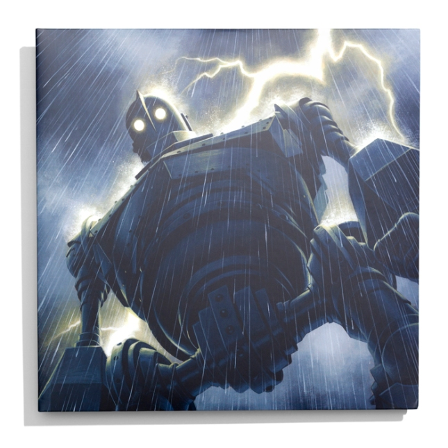「アイアン・ジャイアント」サウンドトラック盤(バージョンA) The Iron Giant Soundtrack 2XLP (Version A) Artwork by Jason Edmiston.  Pressed on 180 Gram Black Vinyl and randomly inserted Metal Gray Vinyl.  US$30