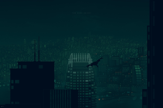"""「ダークナイト -香港-」バリアント The Dark Knight - Hong Kong Variant by Kevin Tong.  24""""x36"""" screen print. Hand Numbered. Edition of 125.  Printed by D&L Screenprinting.  US$65"""