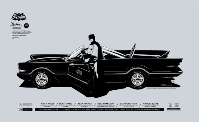 "「バットマン」 Batman  by Gianmarco Magnani. 23.622""x14.567"" screen print. Hand numbered.  Edition of 300.  Printed by Seizure Palace.  US$45"
