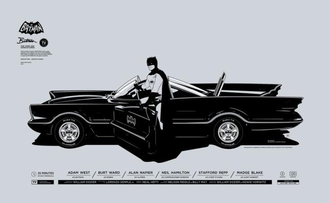 """「バットマン」 Batman  by Gianmarco Magnani. 23.622""""x14.567"""" screen print. Hand numbered.  Edition of 300.  Printed by Seizure Palace.  US$45"""