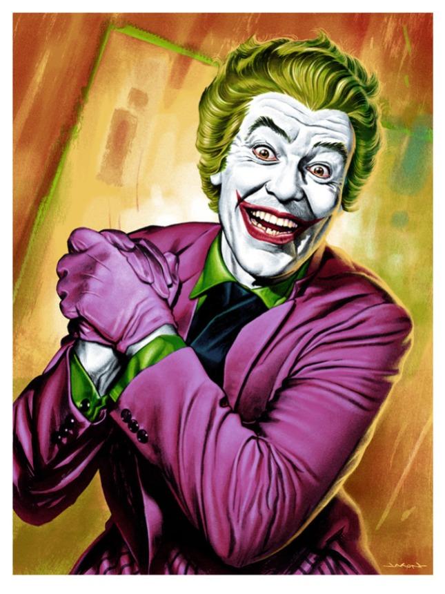 """「ジョーカー」 The Joker  by Jason Edmiston.  18""""x24"""" screen print. Hand numbered. Edition of 225.  Printed by D&L Screenprinting.  US$45"""